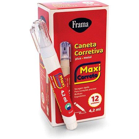 Caneta Corretiva Plus 4,2Ml. Metal Frama