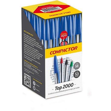 Caneta Esferográfica Top 2000 Vermelha Compactor
