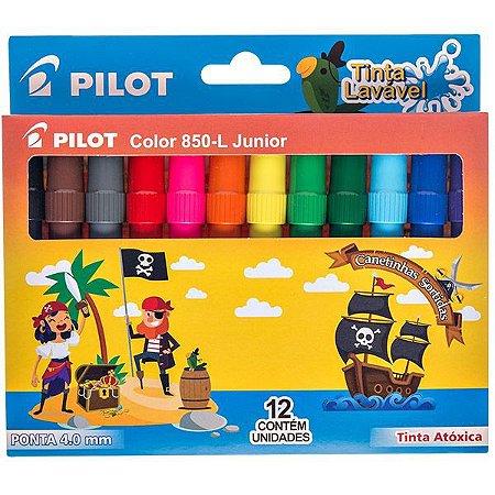 Caneta Hidrografica Color 850L Junior 12 Cores Pilot