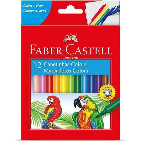 Caneta Hidrografica Prestocolor Regular 12 Cores Faber-Castell