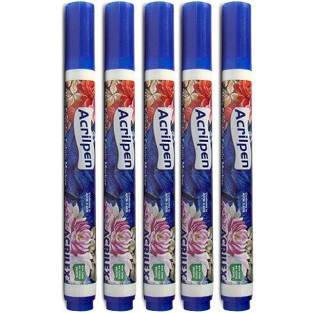 Caneta Para Tecido Azul Turquesa Acrilpen Acrilex