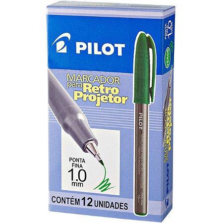 Caneta Retroprojetor 1.0Mm Marcador Verde Pilot