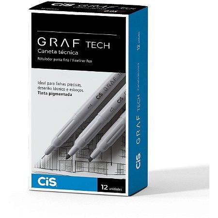 Caneta Tecnica Graf Tech Bullet Preta Sertic
