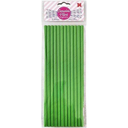 Canudo Biodegradável Verde 6X200Mm Bl.c/12Un Make+