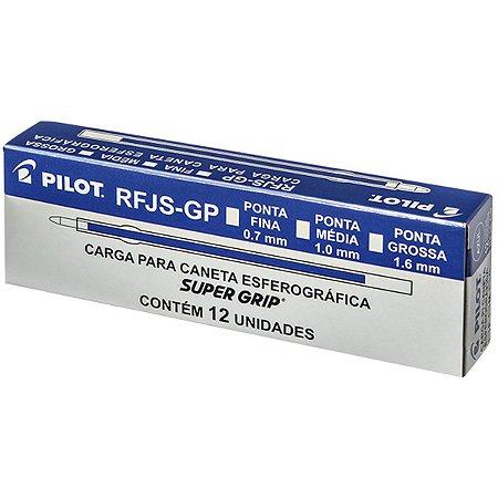 Carga Caneta Esferográfica Rfjs-Gp-Fina 0,7Mm Azul Pilot