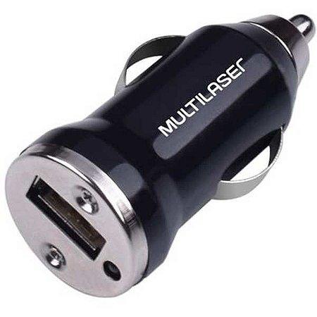 Carregador Celular Veicular Smartogo 1Xusb Preto Multilaser