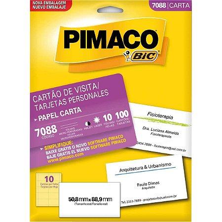 Cartão De Visita 7088 Carta 10 Fls 50,8 X 88,9 Pimaco