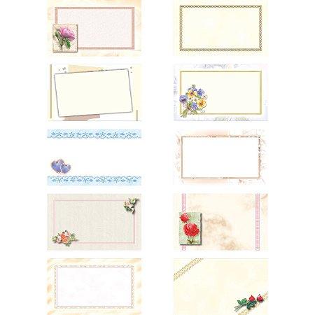 Cartão T.o. Pequeno Decorado Sem Mensagem Sort. Cristina
