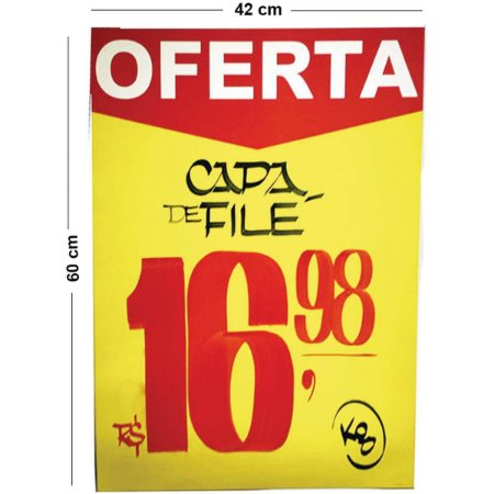 Cartaz Para Marcacao Oferta Amarelo A2 250G 42X60Cm Radex