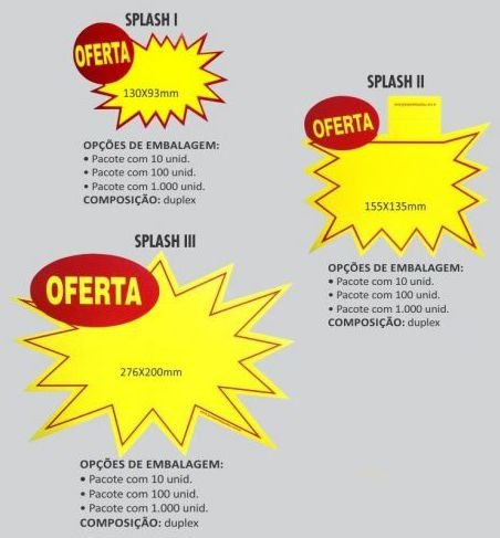Cartaz Para Marcacao Splash Oferta Md 155X135Mm.am. Grespan