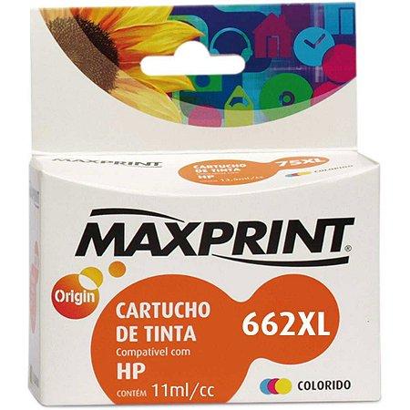 Cartucho Compativel Hp 662Xl Cz106A Colorido Maxprint