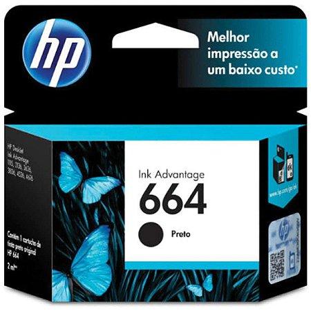 Cartucho Original Hp 664 Preto Ink Advantage Hp