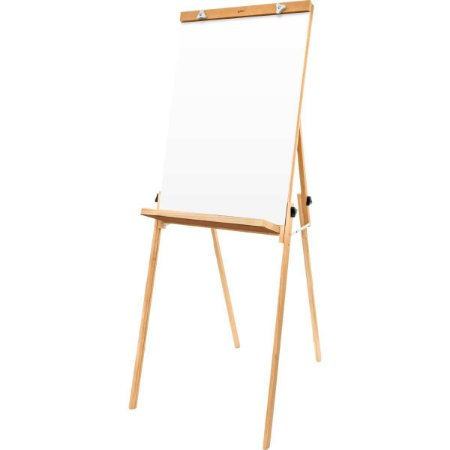 Cavalete Para Flip-Chart Compacto Branco Pinus Luxo Souza