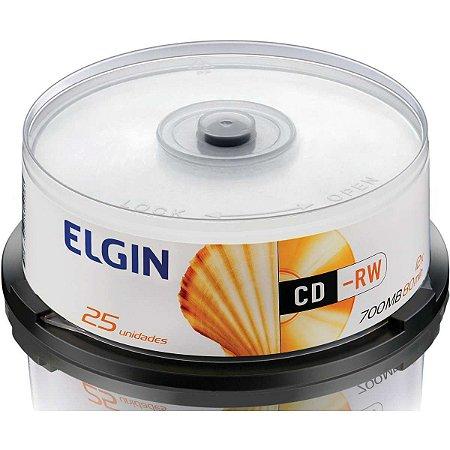 Cd Regravavel Cd-Rw 700Mb/80Min/12X Elgin