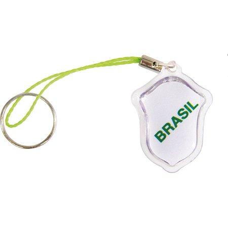 Chaveiro Do Brasil Pingente Escudo C/gel Enjeplastic