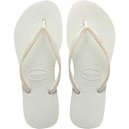 Chinelo Havaianas Feminino Slim 39/0 Branco Havaianas