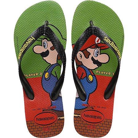 Chinelo Havaianas Infantil Super Mario Bros 27/8 Morango Havaianas