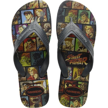 Chinelo Havaianas Masculino Top Max Street Fighter 39/0 Cz Havaianas