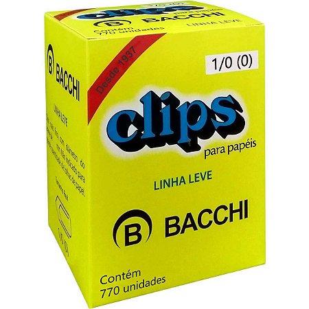 Clips Galvanizado Aço 1/0 Linha Leve C/770 Unid. Bacchi