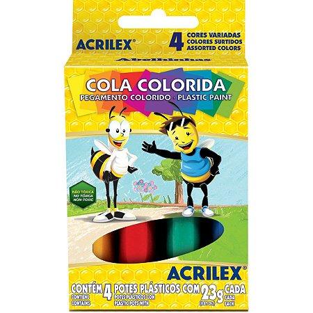 Cola Colorida Estojo Com 04 Cores 23G Acrilex