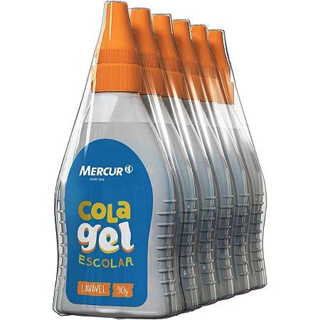 Cola Escolar Gel Transparente 90G Mercur