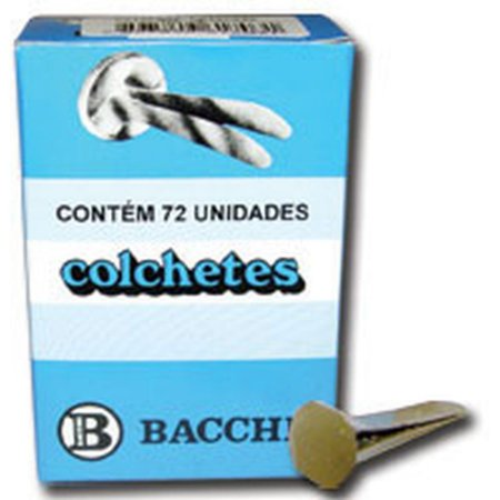 Colchete Latonados N.11 Cx.c/ 72Unid. Bacchi