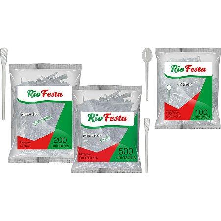 Colher Plástica Descartável Café/chá Brigadeiro Rioplastic