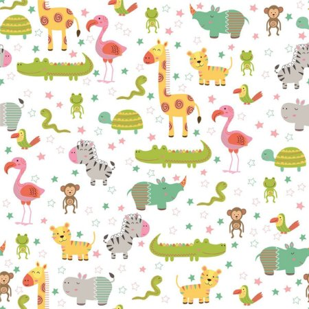 Contact Decorado 45Cmx10M Baby Zoo Plastcover