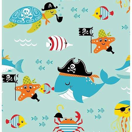 Contact Decorado 45Cmx10M Piratas Do Mar Plastcover