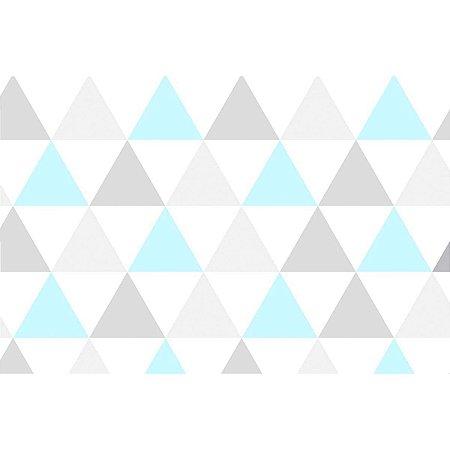 Contact Decorado 45Cmx10M Triangulo Azul Plastcover