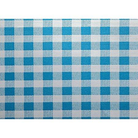 Contact Decorado 45Cmx10M Xadrez Metalizado Azul Plastcover