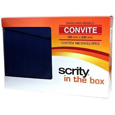 Envelope Convite Colorido 160X235 Az.marinho Porto S.80G Scrity