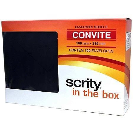 Envelope Convite Colorido 160X235 Preto Los Angeles 80G Scrity