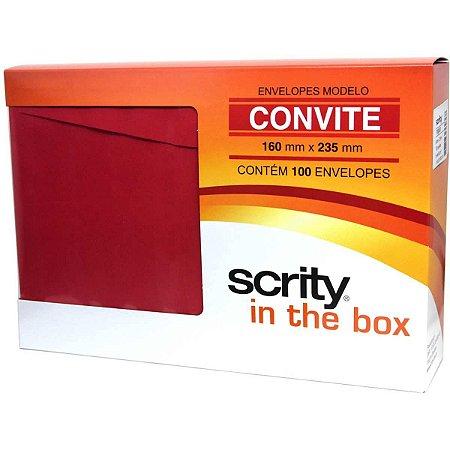Envelope Convite Colorido 160X235 Vermelho Toquio 80G Scrity