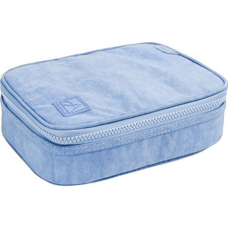 Estojo Tecido Academie Box Gd Azul Claro Tilibra