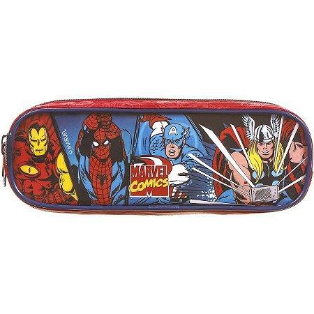 Estojo Tecido Marvel Comics Max Super 2Ziper Dmw