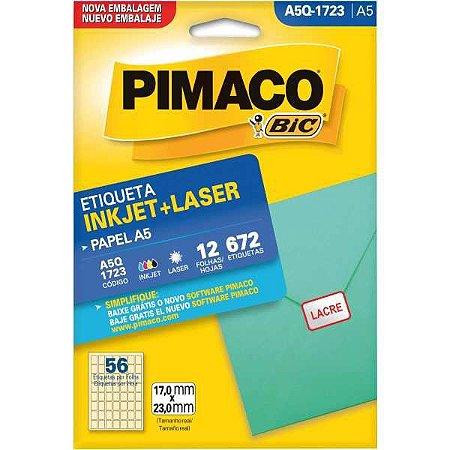 Etiqueta A5 A5Q-1723 12 Fls 17,0 X 23,0 Mm Pimaco