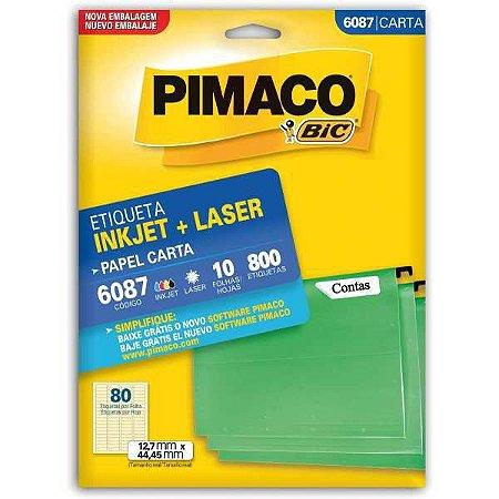 Etiqueta Carta 6087 10 Fls 12,7 X 44,45 Mm Pimaco