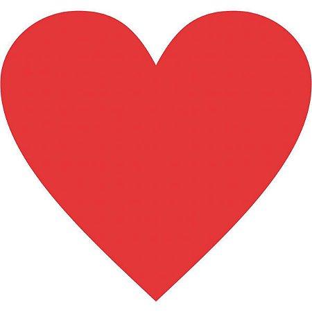 Etiqueta Lisa Com Formas Coração Vermelho C/210 Etiquet Grespan