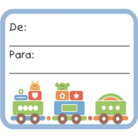 Etiqueta Para Presente De/para Quadrada Infantil Grespan