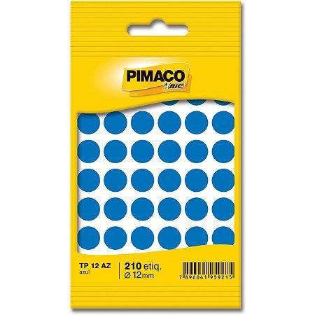 Etiqueta Redonda Tp-12 Azul Redonda 12Mm Pimaco