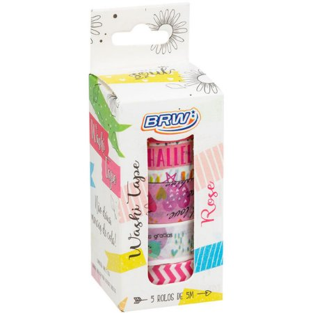 Fita Adesiva Decorada Washi Tape 15X5 Fun 5 Estampas Brw
