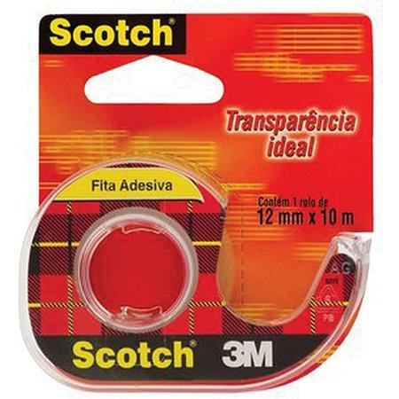 Fita Adesiva Durex Transparente 12Mmx10M.c/aparel 3M