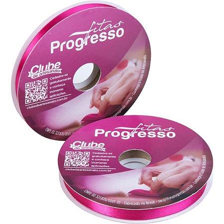Fita De Cetim 10Mm 50M. Pink 303 Fitas Progresso