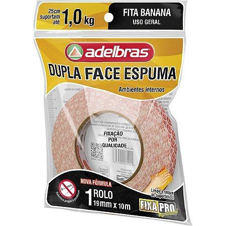 Fita Dupla Face Fixa Pro Espuma 19Mmx10M Adelbras