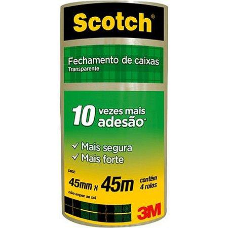 Fita Para Empacotamento Scotch 5802 Transp. 45Mmx45M. 3M