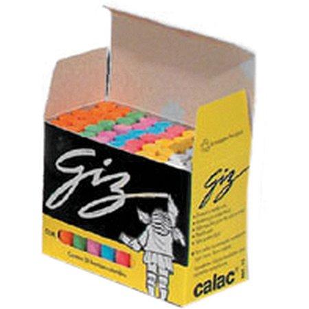 Giz Escolar Plastificado Color Cx.c/50Und. Calac