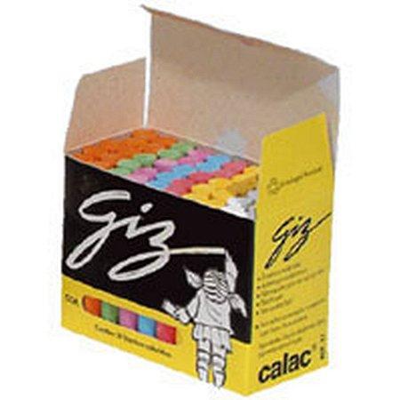 Giz Escolar Plastificado Color Master 30X50Un. Calac
