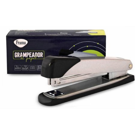 Grampeador Metal Medio Prata P/20Fls 15,8Cm Frama