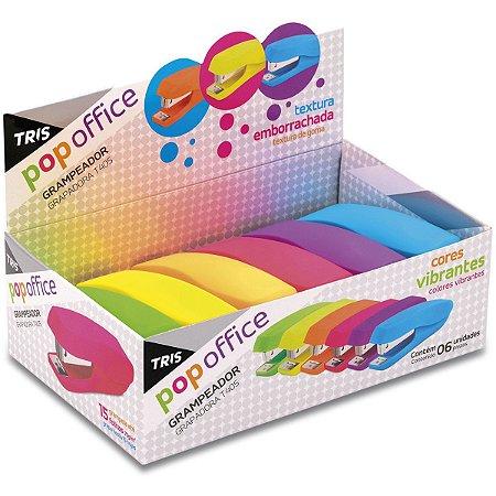 Grampeador Plastico Tris T405 Colors 26/6 P/ 15Fls Summit